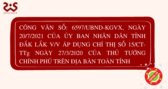ĐẮK LẮK THỰC HIỆN CHỈ THỊ SỐ 15/CT-TTg NGÀY 27/3/2020 CỦA THỦ TƯỚNG CHÍNH PHỦ TRÊN ĐỊA BÀN TOÀN TỈNH