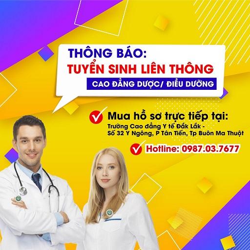 Trường CĐYT Đắk Lắk-Tuyển sinh liên thông